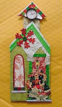 chunky row house christmas village - december