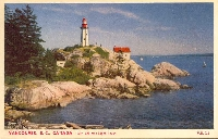 Lighthouse on a postcard