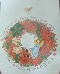 Christmas Card as poscard #32 - Wreath