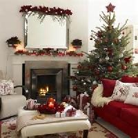Christmas card as postcard #34 - fireplace