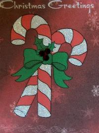 Christmas card as postcard #35 - candy cane