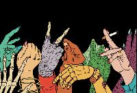 Monster Mania Mail Art Series: #5 Zombie
