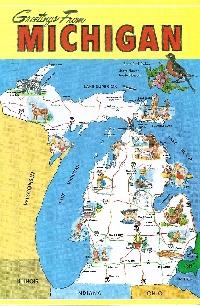 State Map Postcard..