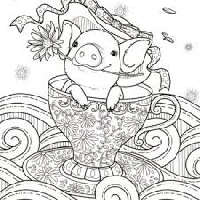 Adult Coloring Page (USA)