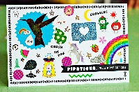 Pipsticks Postcard STICKERBOMBED!