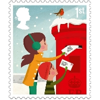 50 used christmasstamps