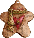 Ginger bread man half ate stuffed ornament