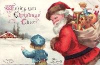 Christmas Postcard with Christmas Stamps #1