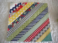 Sew As You Go Striped Quilt Block Swap