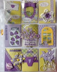 Mini Pocket Letter - Purple and Yellow.