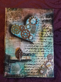 Mixed Media/Collage Art 8x10 Canvas