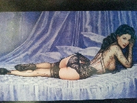 Pinup Girl Postcard - International