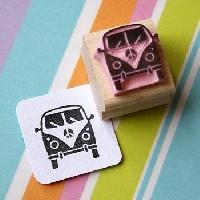 carved rubber or linoleum stamp