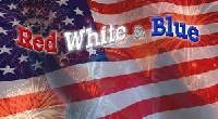 USAPC:  Red-White-Blue Handcrafted Post Card