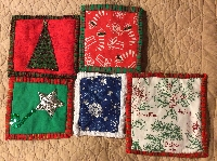 5 inch Christmas Fabric Squares