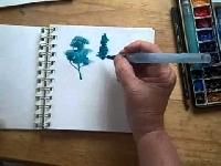 ZMACS Aug: watercolor minizine