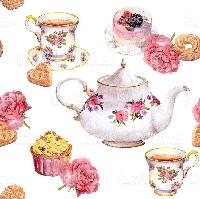 Tea+postcard+used stamp swap