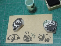 USA--Rubber stamp envelope+flat item swap