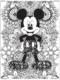 DISNEY THEME COLORING PAGE