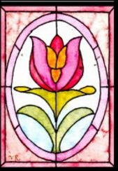 ATC- Stained Glass