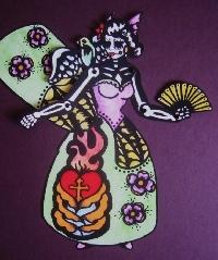 Paper Art Doll: Dia de los Muertos (by: Helena8664
