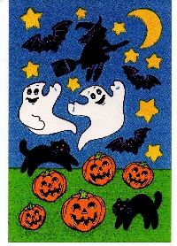 20 Halloween Stickers Swap International