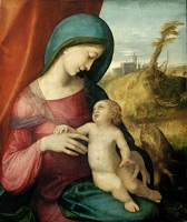 Madonna and Child postcard swap