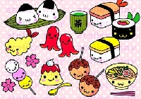 🍙🍡Mail art: Japanese food + flat goodies