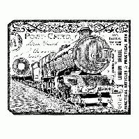 Stamping a Postcard - USA