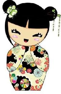 USA🇺🇸ATC--Kokeshi dolls