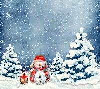 Christmas/Holiday card swap # 1 - Snowman