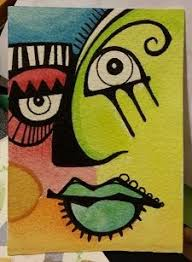 Picasso inspired ATC