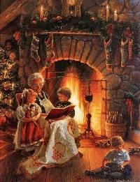 Christmas/Holiday card swap # 4 - Cozy home