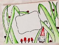 Mail art: Draw on envelope  USA