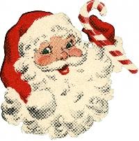 Vintage Santa ATC