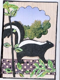 **USA Paper Crafts***  ATC Forest Animal