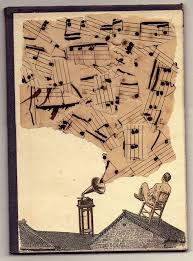ATC: collage with sheet music