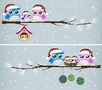Cartoon Owl Christmas ATC ♥