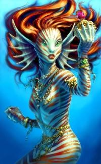 MLU: Mini themed art journal page ~ Mermaids