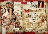 Mail Art Decorated Envelope
