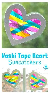 WOW: Washi Heart Suncatcher