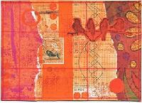 MA: Monochrome Orange Postcard USA
