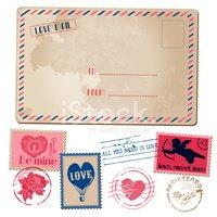 Valentines handmade postcard