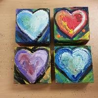 Jim Dine inspired chunky valentines!