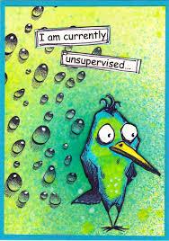 Whimsical bird ATC