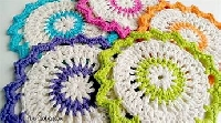 CFC: April 2018  Dishcloth ~ Spring Colors