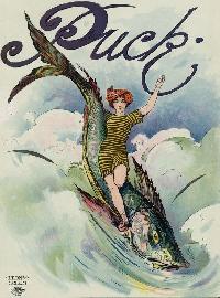 GAA:  Woman Riding Fish ATC
