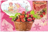 WIYM: Handmade Postcard-Strawberry