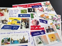More than one stamp postcard swap