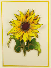 HD/HP Sunflower ATC and Mail Art